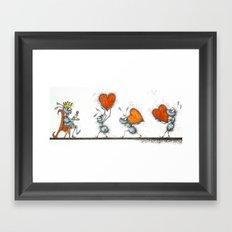 Slaves of love part2 Framed Art Print