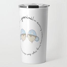 Star Sign Gemini Boy Travel Mug