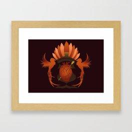 Quetzalli's Heart Framed Art Print