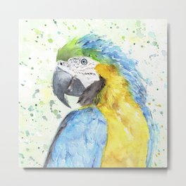 "Watercolor Painting of Picture ""Macaw"" Metal Print"
