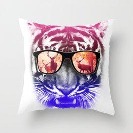 cool tiger  Throw Pillow