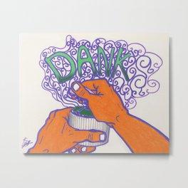 DANK cannabis marijuana 420 weed grinder tapestry Metal Print