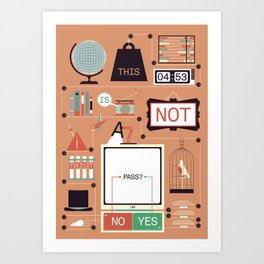 This is not a test!  Art Print