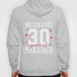 30th Wedding Anniversary Hoody