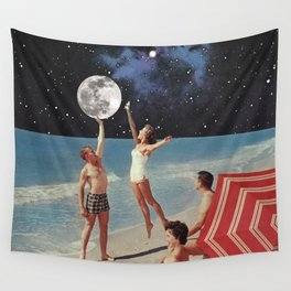 Reaching for the Moon Wall Tapestry