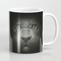 tiger Mugs featuring Tiger by Dr. Lukas Brezak