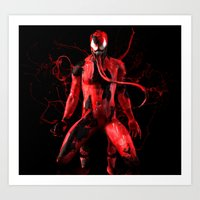 carnage Art Prints featuring Carnage by Scofield Designs