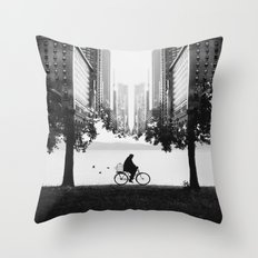 Ride Away Throw Pillow