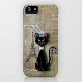 Le Chat, La Reine - The Cat, The Queen iPhone Case