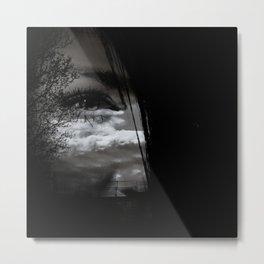 eye double exposure Metal Print