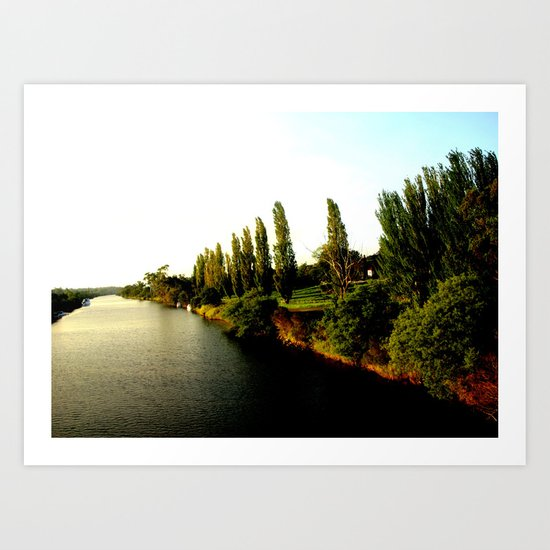 Thompson River @ Twilight Art Print