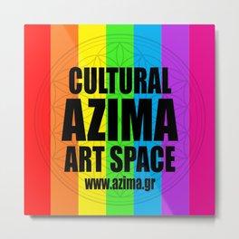 Azima Cultural Art Space Metal Print