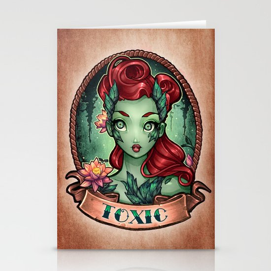 TOXIC pinup Stationery Cards