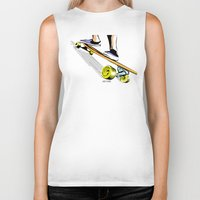 skate Biker Tanks featuring skate by Cal ce tin