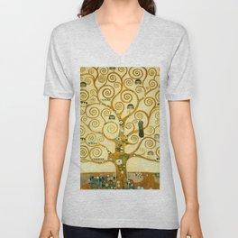 """Gustav Klimt """"Tree of life"""" Unisex V-Neck"""
