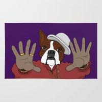biggie smalls Area & Throw Rugs featuring Biggie Biggie by Chris Piascik