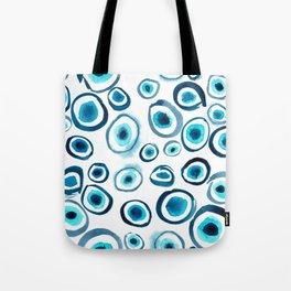 Evil Eye in Watercolorr Tote Bag