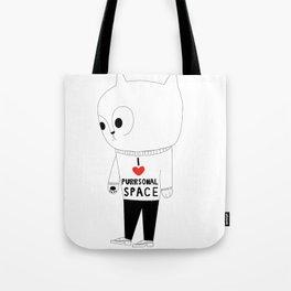 Purrsonal Space Tote Bag