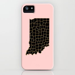 Indiana map iPhone Case