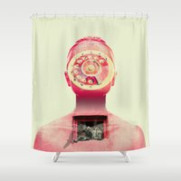 chill Shower Curtains featuring Chill by Pame Pinto Rojas