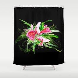 Pastells black by Mia Niemi Shower Curtain