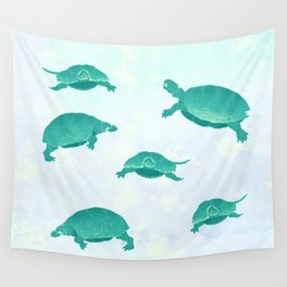 Song of the turtle- save our seas Wall Tapestry