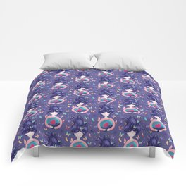 Dreams Come True - Doll With Violet Hair on Purple Comforters