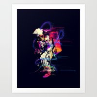 spaceman Art Prints featuring Spaceman  by Sebastián Andaur