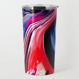 lava meets the sea abstract oil painting Travel Mug