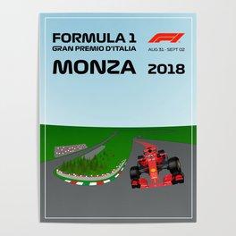 Formula 1 Monza GP Poster 2018 Poster