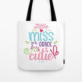Little Miss 3rd Grade Cutie Tote Bag