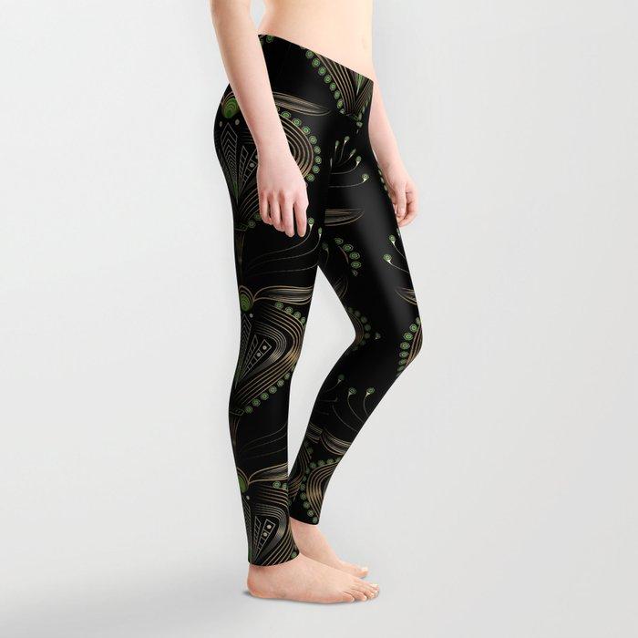 Art Deco . Aphrodite . Leggings