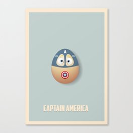 Capt. America Egg Canvas Print