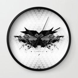 BLACK & WHITE   Zebras   Linco7n.   L7. Wall Clock