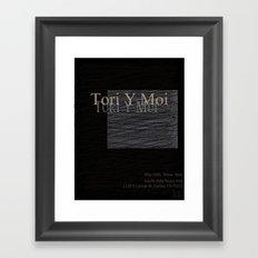Tori Y Moi Poster Framed Art Print