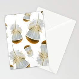Pretty  Feathers, Seamless Watercolour Pattern Stationery Cards