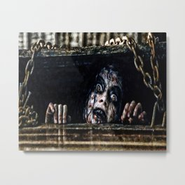Stay Out of the Basement: Evil Dead Metal Print
