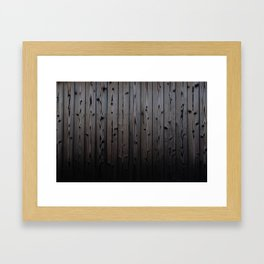 Silvered Slats Framed Art Print