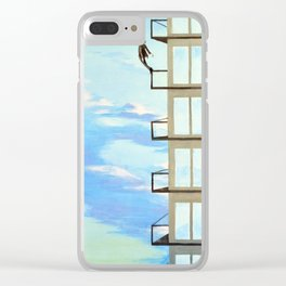 Swan Dive Clear iPhone Case