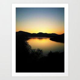 Sunset Over Loch Lomond Art Print