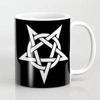 pentagram Mugs featuring Pentagram by Howiesgraphics