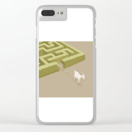 Do you solve problems by using logic or instinct? Clear iPhone Case
