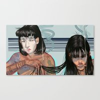 cigarette Canvas Prints featuring Cigarette by theecrows