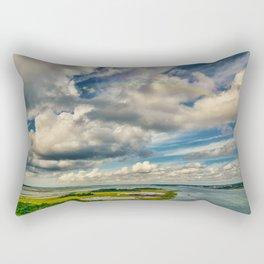 The Emerald Rainbow Rectangular Pillow