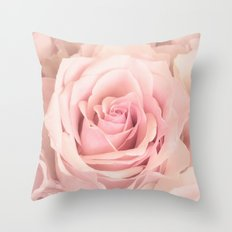 A rose is a rose - Wonderful pink Rose flower Throw Pillow