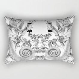 Burpping Chameleon Rectangular Pillow