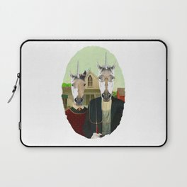 American Gothic Unicorn Laptop Sleeve