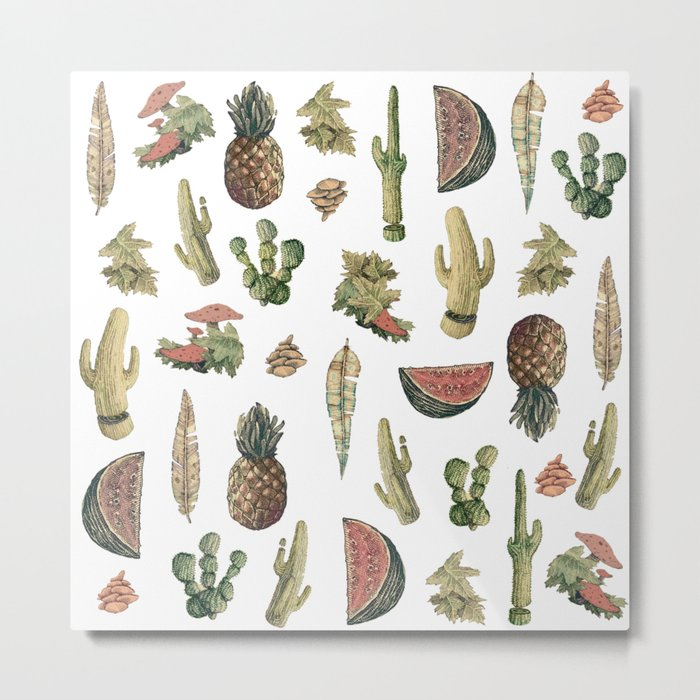 nature vibes with fruits Metal Print