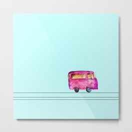 Little bus Metal Print