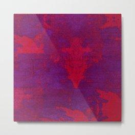 Abstract Neon Metal Print